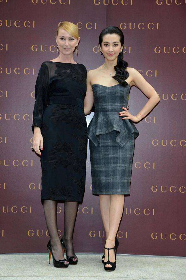 Frida Giannini & Li Bing Bing. Foto cortesía de Gucci & Getty Images