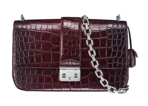 Miss Dior brown crocodile