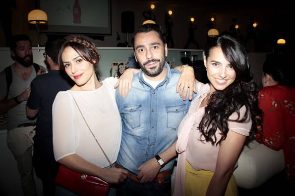 Irene Montalá, Juanjo Oliva y Cristina Brondo