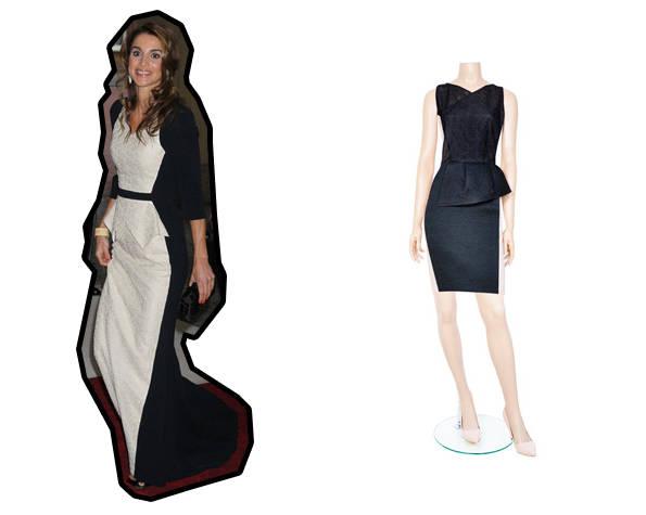 Rania de Jordania de Antonio Berardi y vestido de Antonio Berardi para 24fab