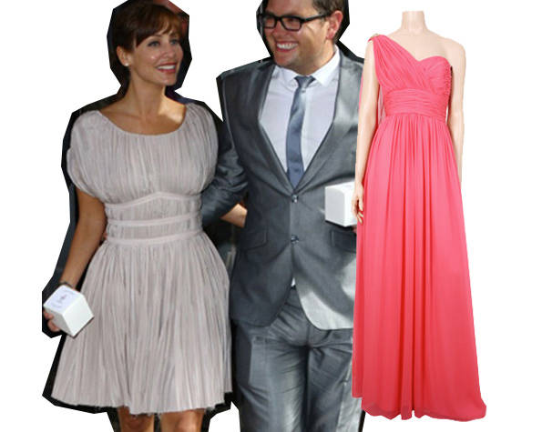 Natalie Imbruglia con look griego y vestido de Marchesa para 24fab