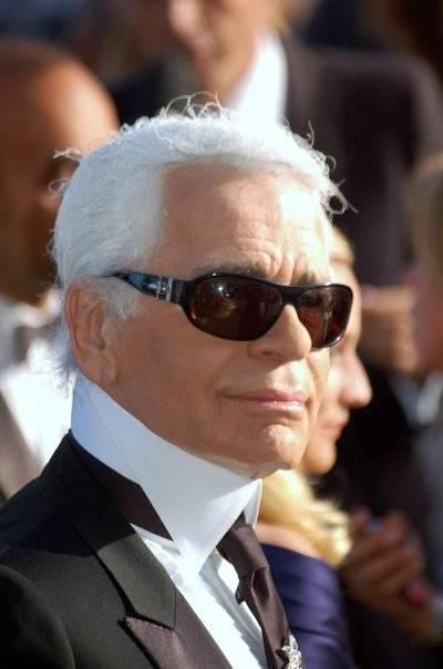 Karl Lagerfeld, en Cannes en 2007