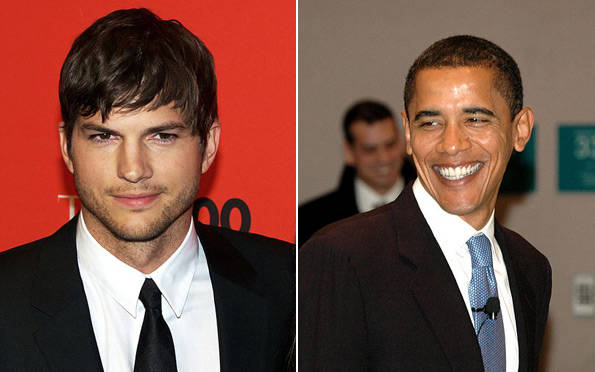 Ashton Kutcher, Barak Obama