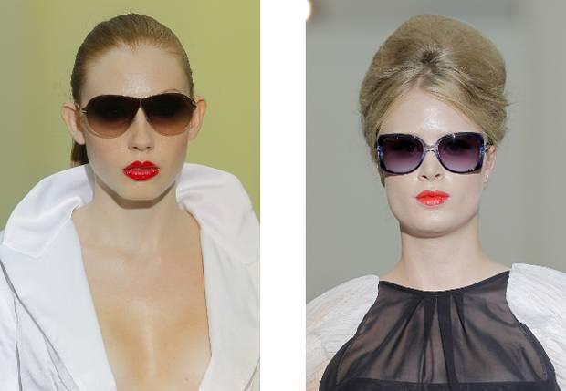Look lady con labio rojo