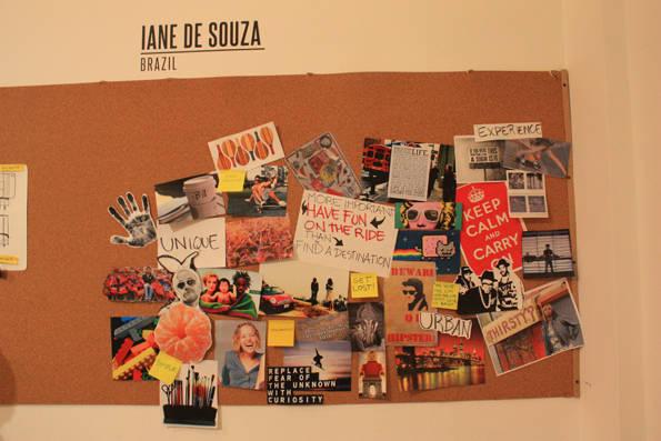 Bocetos de Iane de Souza, la concursante brasileña