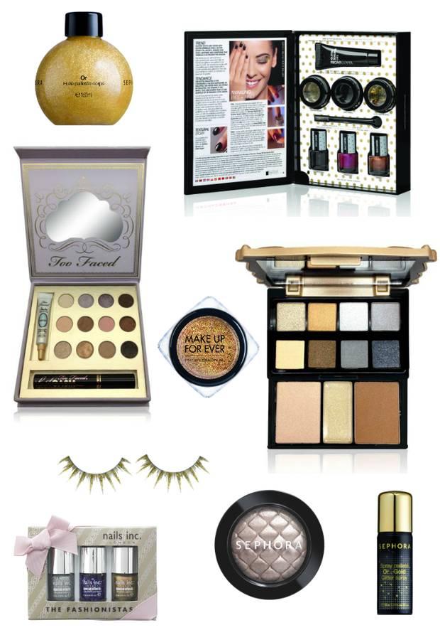 Colorido maquillaje dorado Sephora