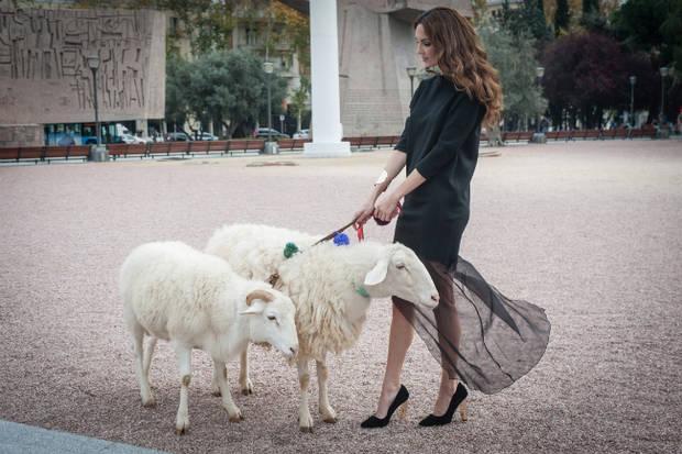 Eugenia Silva apoya la Campaña por la Lana en Madrid