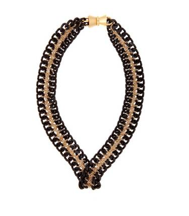 Art Deco Chain on Chain Necklace