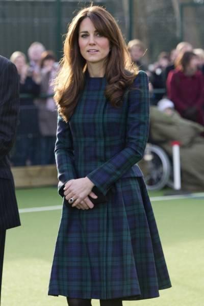 Kate Middleton vestida de tartán para Alexander McQueen