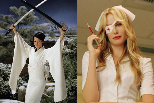 Lucy Liu y Daryl Hannah como chicas Tarantino
