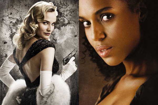 Diane Kruger y Kerry Washington como chicas Tarantino