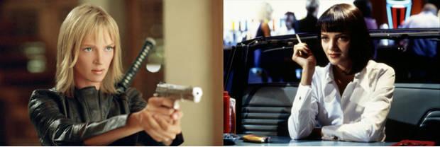 Una Thurman como dos de nuestras chicas Tarantino favoritas