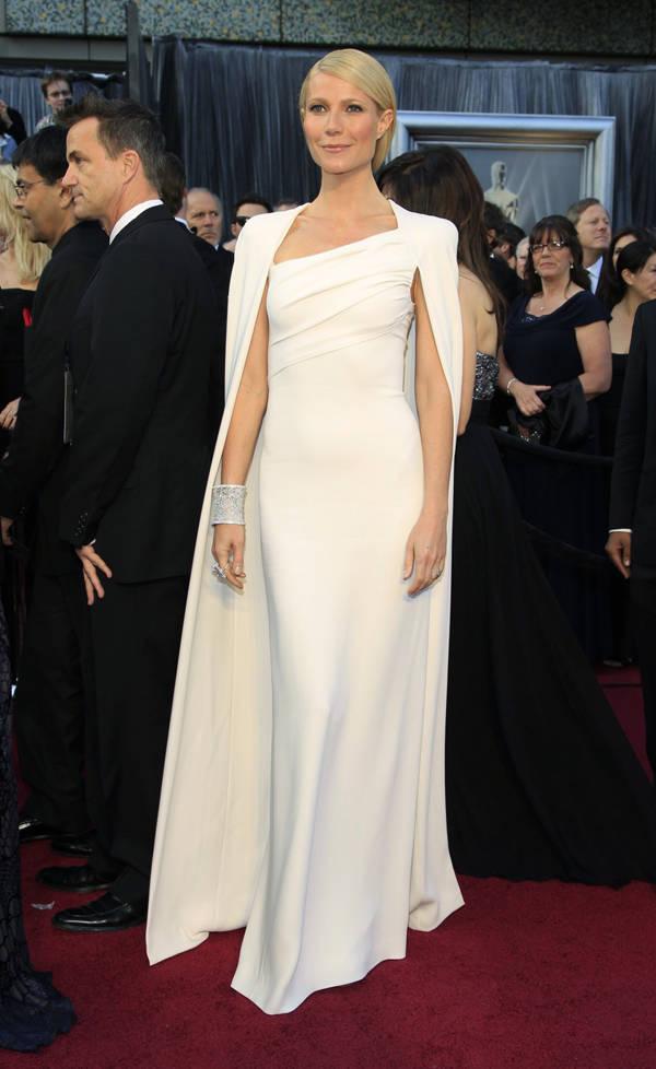 Gwyneth Paltrow de Tom Ford en la ceremonia de los Oscar 2012