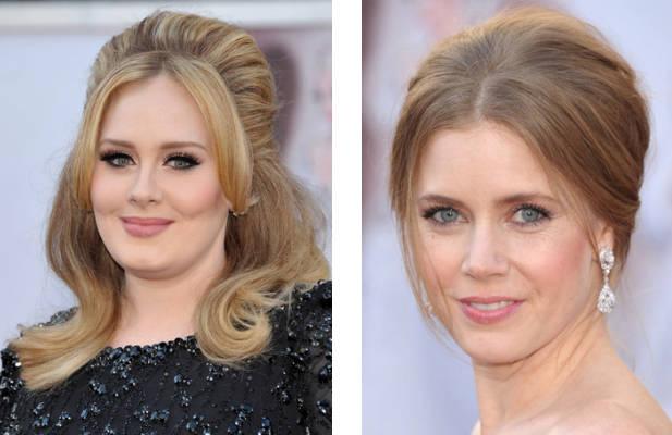 Peinados Oscar 2013: Adele y Amy Adams