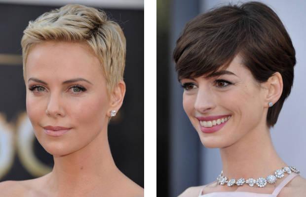 Peinados Oscars 2013: Charlize Theron y Anne Hathaway