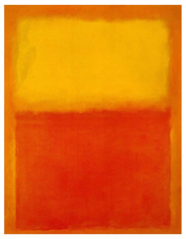 Orange and yellow, de Rothko
