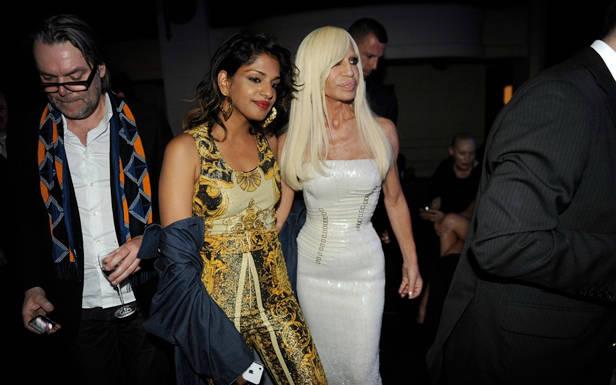 M.I.A. y Donatella en un evento en el Ritz