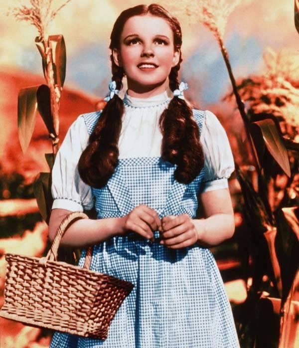 Judy Garland en su papel de Dorothy