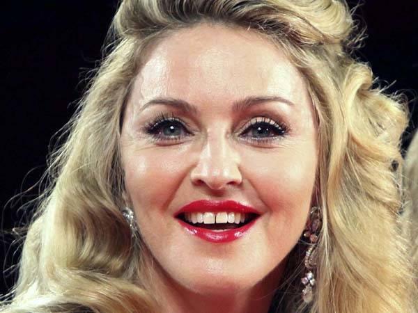 Madonna, imágen actual, con un grado de diastema intermedio.