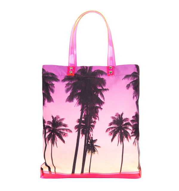 Bolso con print de palmeras