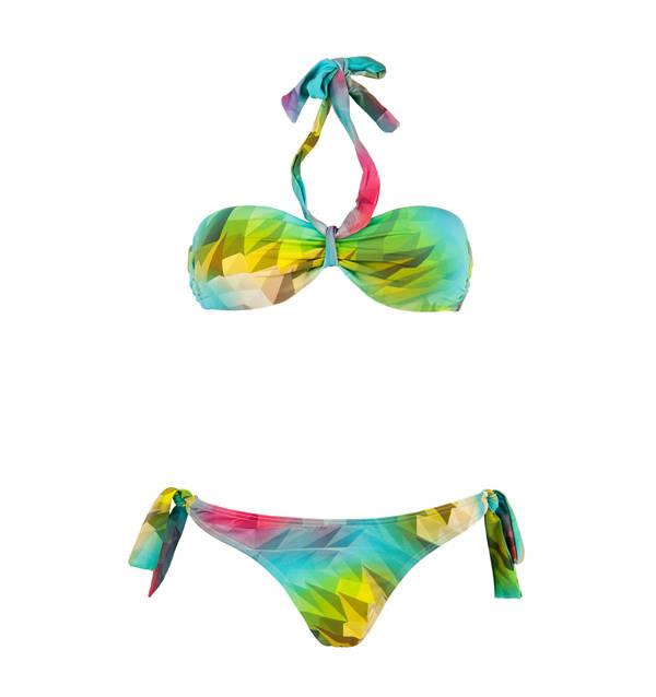 Bikini en colores tropicales
