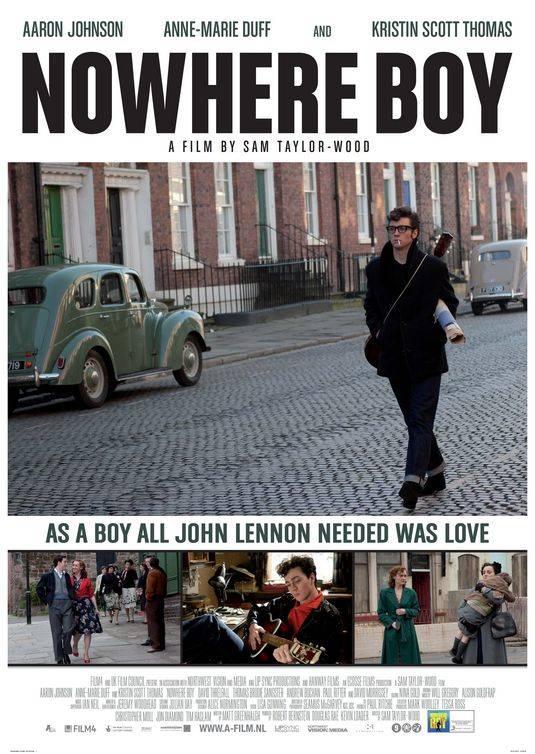 Cartel de la película Nowhere boy, dirigida por Sam Taylor-Wood, su actual pareja.