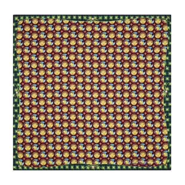 Os gemeos han creadp un mosaico de micro-lunas para el carré de seda
