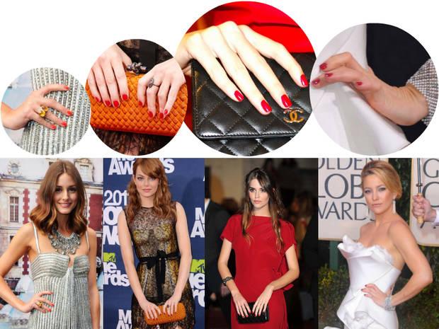celebrities con uñas rouge