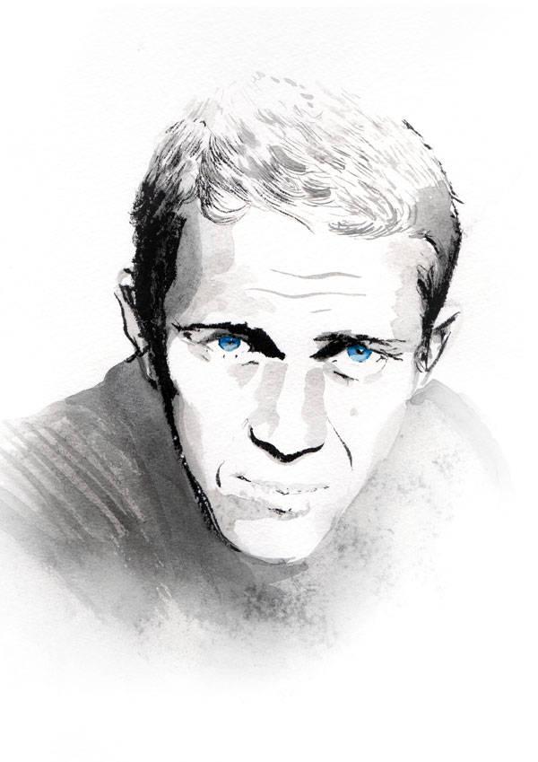Steve McQueen por Carlos Egan