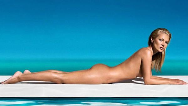 Kate Moss como imágen de la línea de bronceadores St. Tropez