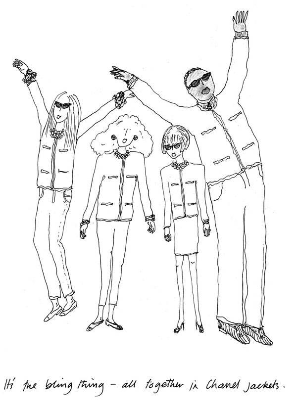 Ilustración de Grace Coddington