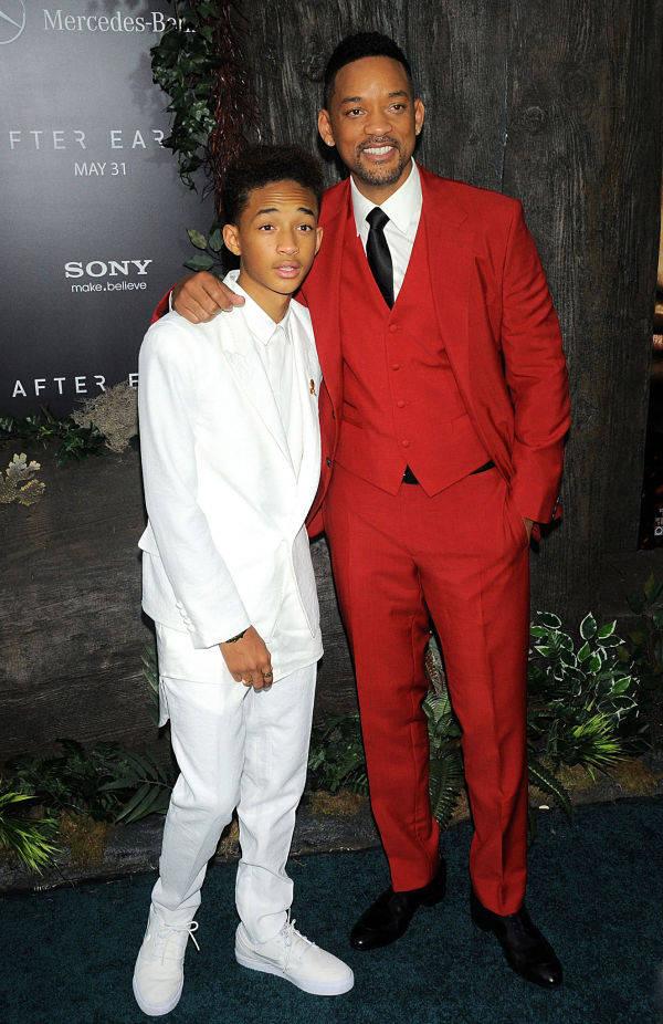 Will Smith y su hijo Jaden en la premier de su nueva película