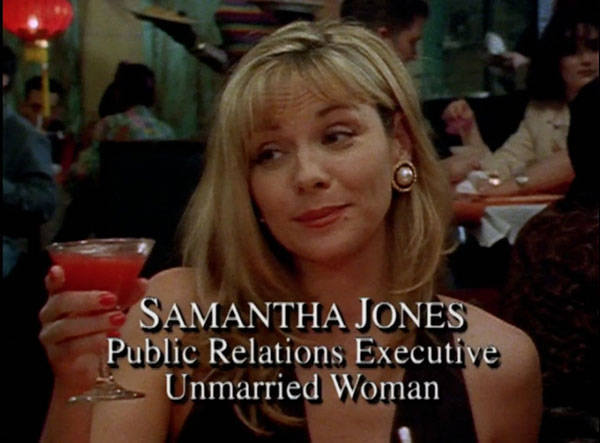 Kim Cattrall intérprete de Samantha Jones