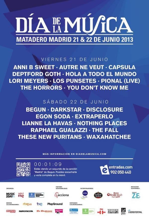 Cartel Día de la Música Madrid 2013