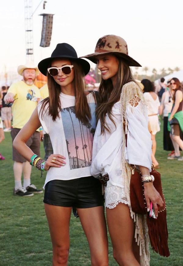 Alessandra Ambrosio hace unos meses en Coachella