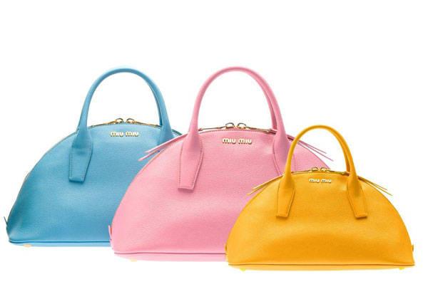 Los tres bolsos de la nueva colección O/I Miu Miu