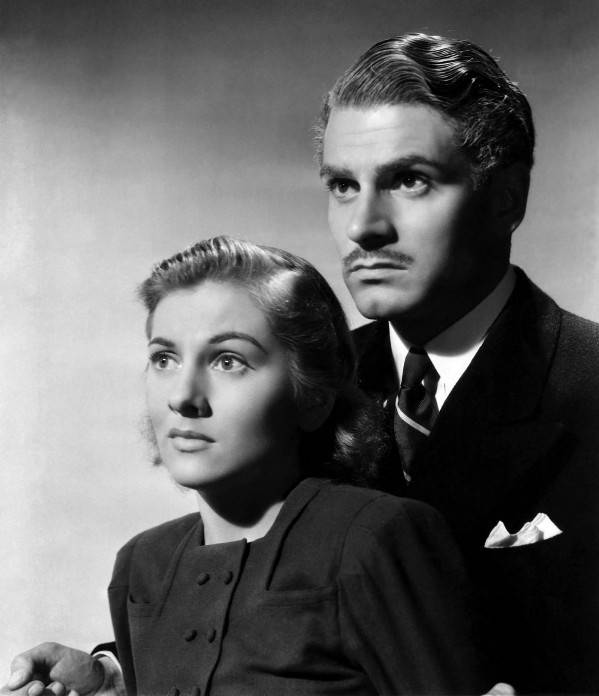Laurence Olivier y Joan Fontaine en
