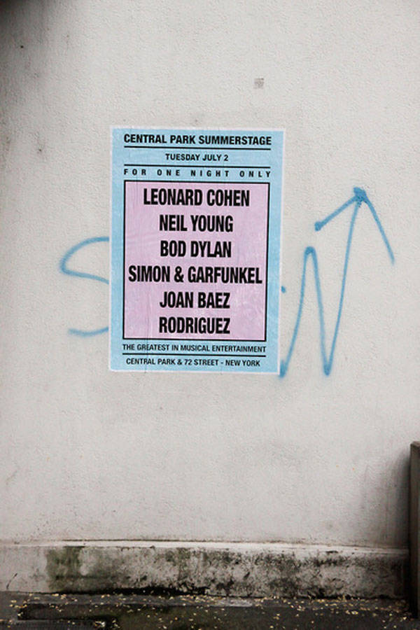Cartel del grafitero André Saravia