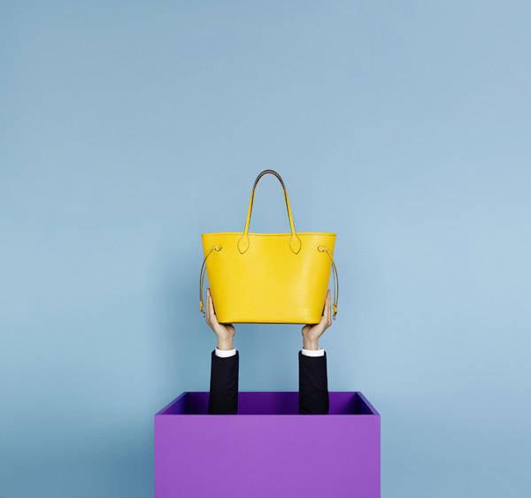 Bolso Neverfull en piel Epi amarillo de Louis Vuitton
