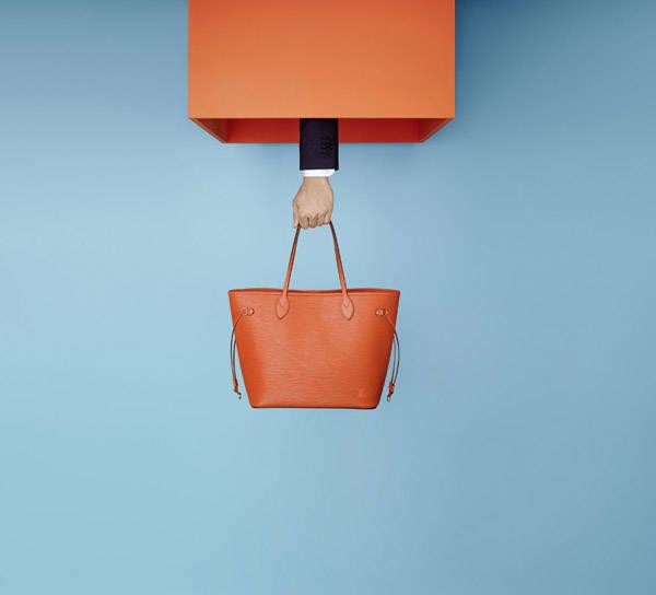 Bolso Neverfull en piel Epi naranja de Louis Vuitton