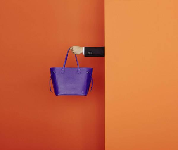 Bolso Neverfull en piel Epi morado de Louis Vuitton