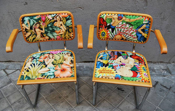 Sillas Cesca de Marcel Breuer tapizadas por La Tapicera