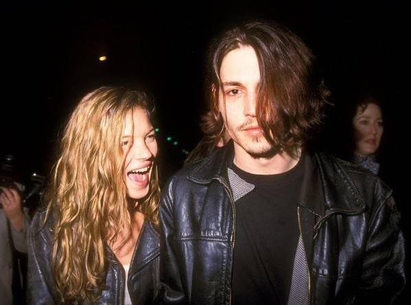 Johnny Depp y Kate Moss