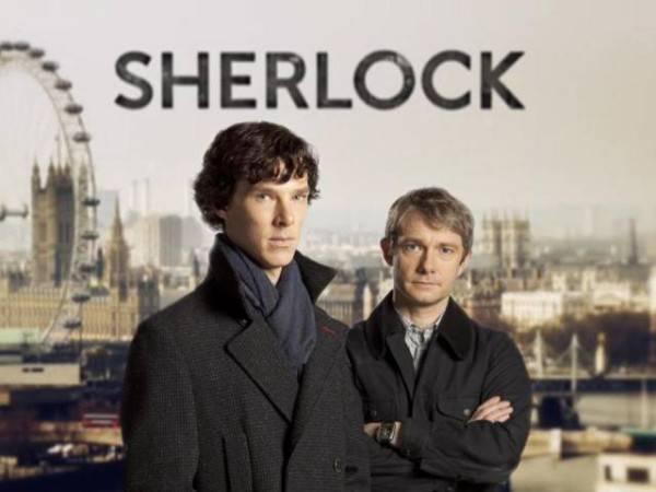 Cartel promocional de la serie Sherlock