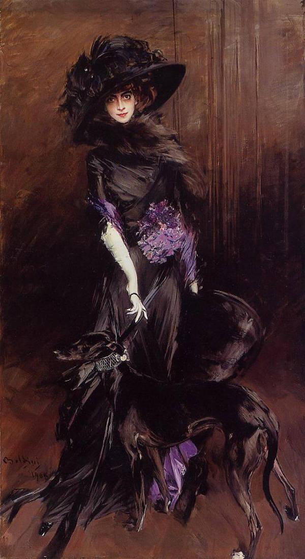 Luisa Casati pintada por Giovanni Boldini