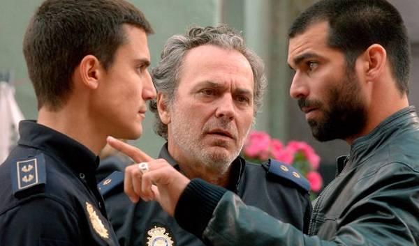 Álex González durante el rodaje de