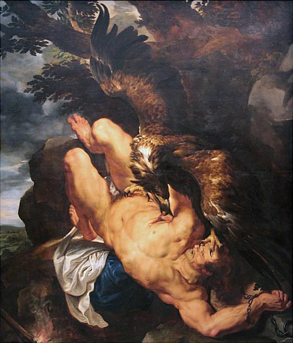 El Prometeo capturado. Pedro Pablo Rubens. Óleo sobre lienzo, 1611 - 1612. Museo de Arte de Filadelfia