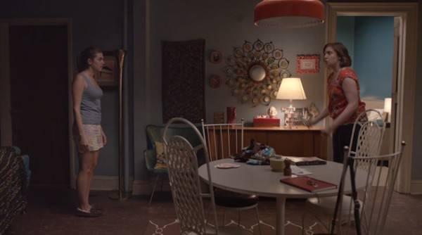 Salón del apartamento de Hannah y Marnie