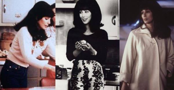 Atención a los oufits de Cher: Los jerseys de lana y los pantalones capri abundan en su armario tanto como los vestidos estampados y ceñidos.
