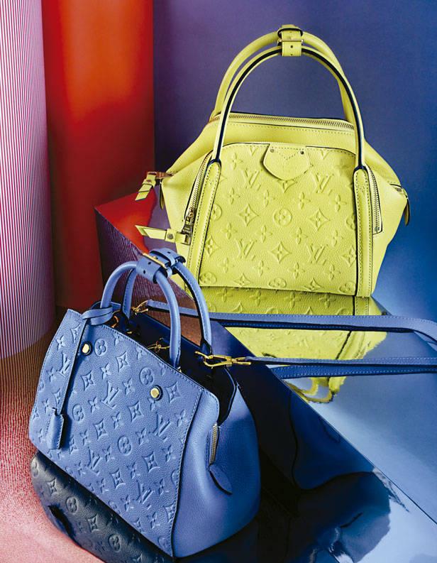 Bolsos de Louis Vuitton en piel Monogram Empreinte.